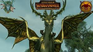 wood elves vs morghur the shadowgave harpies total war