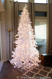 the all white and flocked christmas tree decorchick