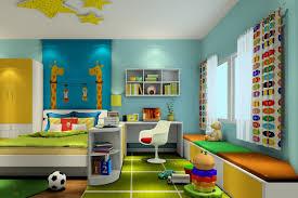 Bedroom Cartoon Children U0027s Bedroom Curtains In Cartoon Style Interior Design