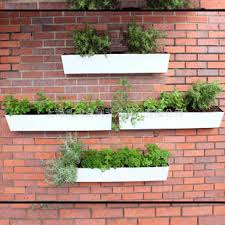 Wall Hanging Planters by Creative Wall Metal Flower Planters Rectangular Stainless Steel