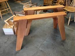 Diy Sawhorse Desk by Folding Sawhorse Stows Away Finewoodworking