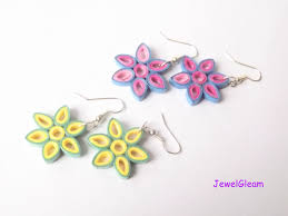 paper quilled flower earrings tutorial youtube