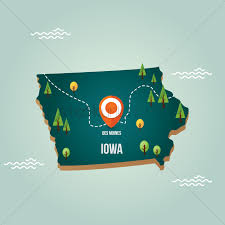 map us iowa iowa map with capital city vector image 1536734 stockunlimited