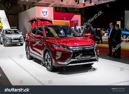 geneva 2017 mitsubishi eclipse cross car stock photo 612057986