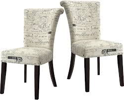 french script 2 piece accent dining chair package the brick