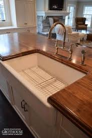 Countertop Kitchen Sink Faux Reclaimed Wood Kitchen Counters The Ragged Wren On