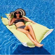 outdoor water floating beanbag bed with a floating pillow buy