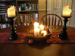 thanksgiving deco decorations artistic candle light thanksgiving table decoration