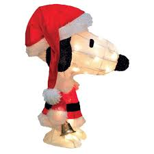 Animated Snoopy Mailbox Christmas Decoration by Product Works Peanuts Charlie Brown In Santa Suit Yard Art