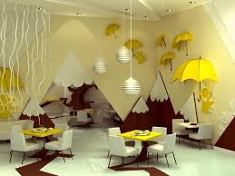 Kids Room Decoration Tree Umbrella In Artistic Summer Theme Kids Room Interior Decor By