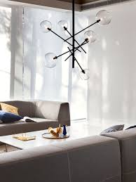Bathroom Lighting Pendants Aksel 6 Light Pendant In Black Clear Modern Pendants Pendant