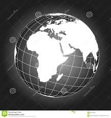 Europe And Africa Map by Europe And Africa Map In Black And White Stock Vector Image