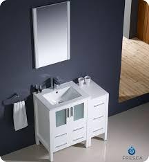 White Modern Bathroom Vanities Fresca Torino 36