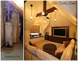 Before And After Home Decor Exciting Attic Renovation Before And After 17 For Your Decor