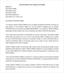 brilliant ideas of self recommendation letter sample for
