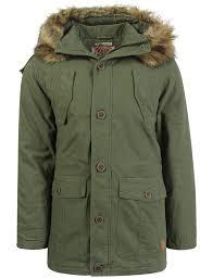 Green Parka Jacket Mens Men U0027s Tokyo Laundry Fur Trim Hooded Parka Jacket Size S Xxl Ebay