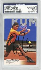 tennis cards signed card