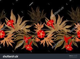 exotic climbing plant ivy vector seamless stock vector 410172475