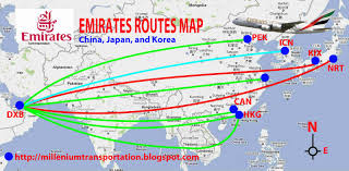 Airline Routes Map by Routes Map Emirates Routes Map