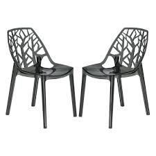 Molded Plastic Outdoor Chairs by Chairs Cornelia Side Chair Molded Olycarbonate Material Black