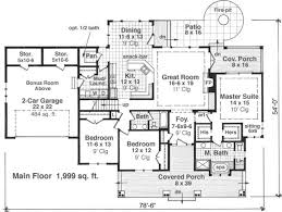 Bi Level House Plans With Attached Garage Craftsman Style House Plan 3 Beds 2 50 Baths 1999 Sq Ft Plan 51 550