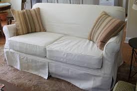 White Slipcovered Sofa by Loveseat Sleeper Sofa Slipcover Centerfieldbar Com