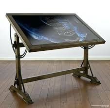 Wooden Drafting Table Drawing Table Design Plans Furniture Shaped Desk Drafting Office