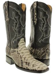 mens brown leather biker boots mens real python rattle snake skin leather cowboy boots square toe