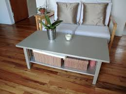 Painted Coffee Table Small Rectangle Wooden Coffee Table Painted With Silver Color With