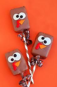 chocolate crispy rice turkey pop recipe best thanksgiving diy