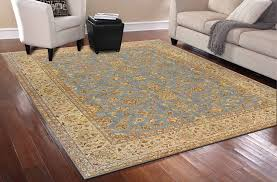 10375 by Rugsville Ziegler Traditional Blue Wool 10375 9x12 Rug Rugsville