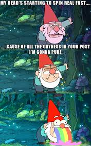 Puking Rainbow Meme - gnome puking rainbow meme on imgur