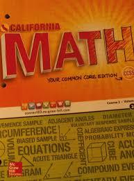 california math your common core edition course 2 volume 2 carter