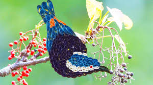 paper quilling birds tutorial quilling artwork how to make beautiful blue bird making video