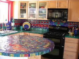 Kitchen Backsplash Handmade Tile Mosaic Eclectic Kitchen - Tile mosaic backsplash