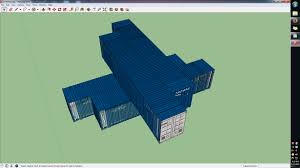 shipping container home container configuration in sketchup