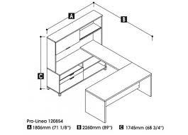 pro linea u shaped desk with hutch