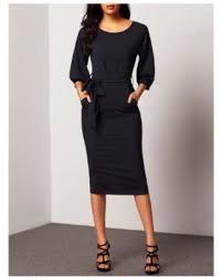 black friday special shein sheinside puff sleeve dress with belt
