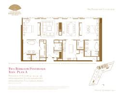 Floor Plans For Condos by Two Bedroom Penthouse Floor Plans The Mandarin Oriental Las Vegas