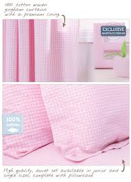Pink Gingham Curtains Gingham Curtains Uk Homeminimalist Co
