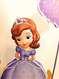 princess sofia the first centerpiece birthday yndiraartz