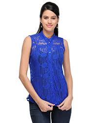 top design maithili creation s net top top2021 l blue size large