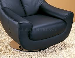 Black Leather Swivel Chairs Swivel Chair In Black Leather By Whiteline Imports