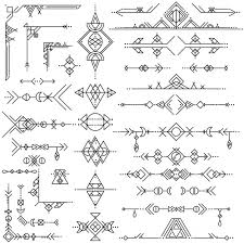 geometric tribal ornaments vector free