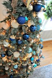 decorations of blue on white tree southern state of mind