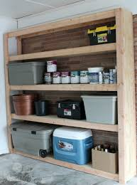 Build Wood Garage Shelves by How To Build Shelves For Your Garage Parties For Pennies
