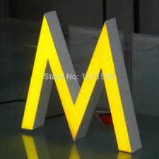 customized store front signage epoxy resin channel letters sign