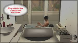 Bath And Showers Mod The Sims More Realistic Time Of Taking Bath And Shower