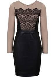 designer outlet kleider designer outlet kleid mit lederimitateinsatz kleidung damen