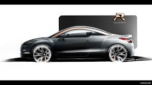 peugeot rcz black 2012 peugeot rcz r concept design sketch hd wallpaper 11